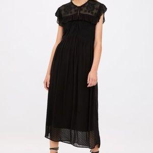 Zara dotted mesh dress